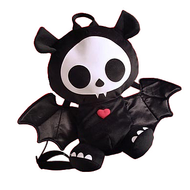 Skelanimals Diego (Bat) 12-Inch Deluxe Backpack Plush