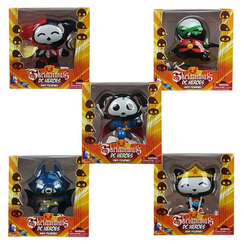 DC Heroes Skelanimals Wave 1 Vinyl Figure Set