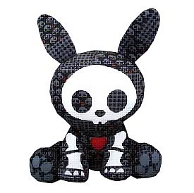 Skelanimals Dead in Plaid Jack (Rabbit) Plush