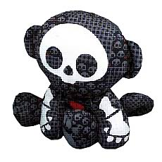 Skelaninals Dead in Plaid Marcy (Monkey) Plush