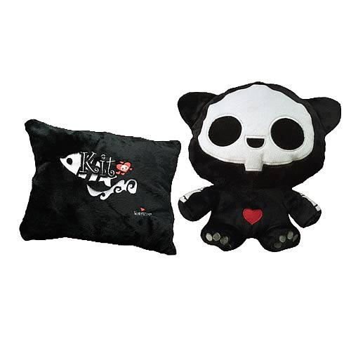 Skelanimals Kit (Cat) Transformable Pillow Plush