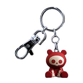 Skelanimals ChungKee (Panda) Red Key Chain