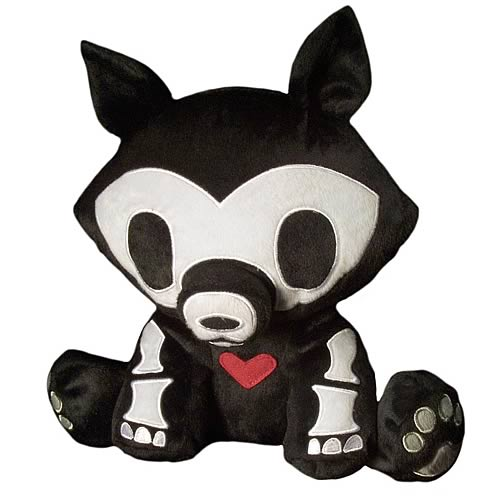 Skelanimals Series 2 Jae (Wolf) Deluxe Plush