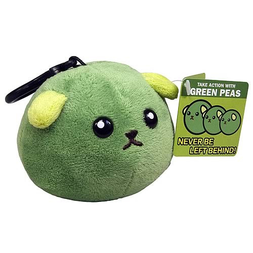 Mameshiba Series 2 Green Pea 4-Inch Clip-On on Plush