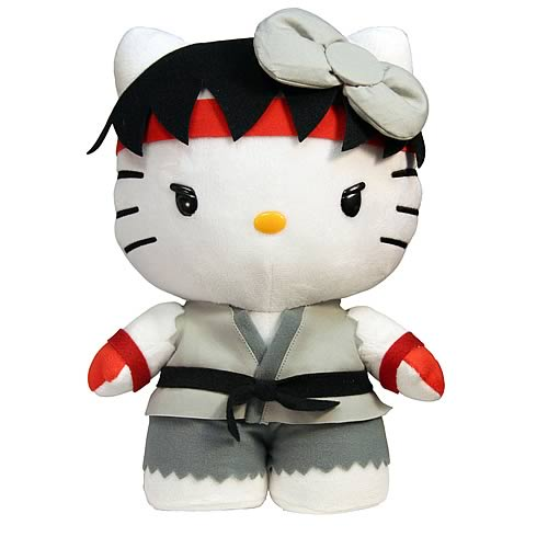 Street Fighter Hello Kitty Ryu 11-Inch Plush