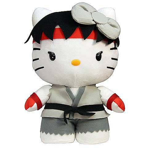Street Fighter Hello Kitty Ryu 6-Inch Plush