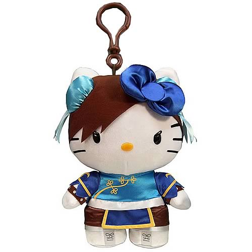 Street Fighter Hello Kitty Chun-Li Plush Clip-On Coin Purse