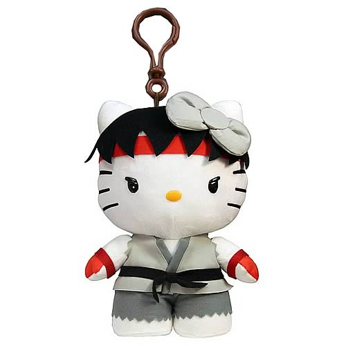 Street Fighter Hello Kitty Ryu Plush Clip-On Coin Purse