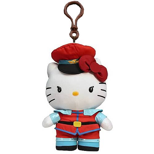 Street Fighter Hello Kitty M. Bison Plush Clip-On Coin Purse