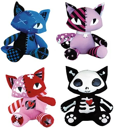 Emily the Strange Patch Work Kitty Dolls Set
