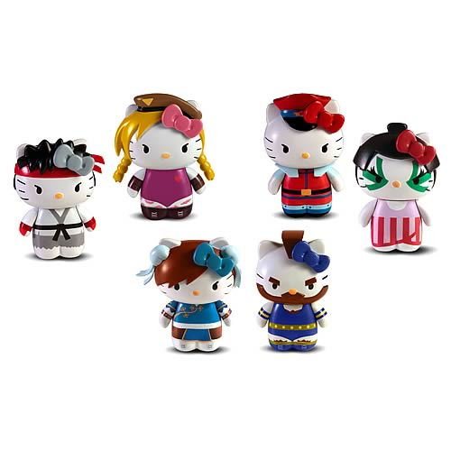 Street Fighter Hello Kitty Vinyl Figure 2-Pack Case
