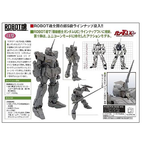 Gundam Robot Spirits Unicorn Gundam Action Figure