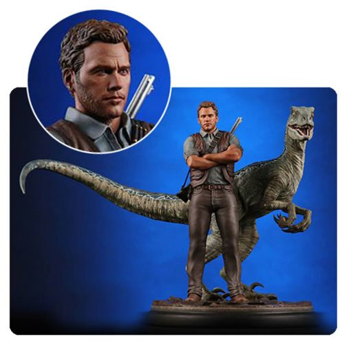 Jurassic World Owen and Blue 1:9 Scale Statue