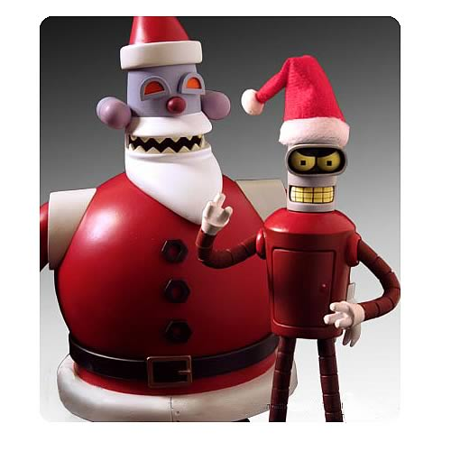 Futurama SDCC 2008 Exclusive Robot Santa and Bender 2-Pack