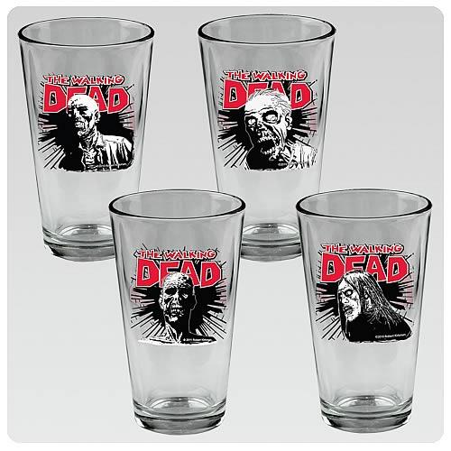 Walking Dead Pint Glass 4-Pack