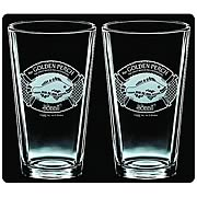 The Hobbit Golden Perch Premium Etched Pint Glass 2-Pack