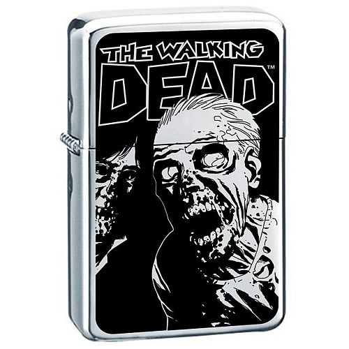 Walking Dead Rise and Feed Premium Enamel Lighter