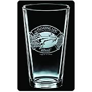 The Hobbit Floating Log Premium Etched Pint Glass 2-Pack