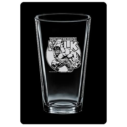 Incredible Hulk Premium Etched Pint Glass 2-Pack