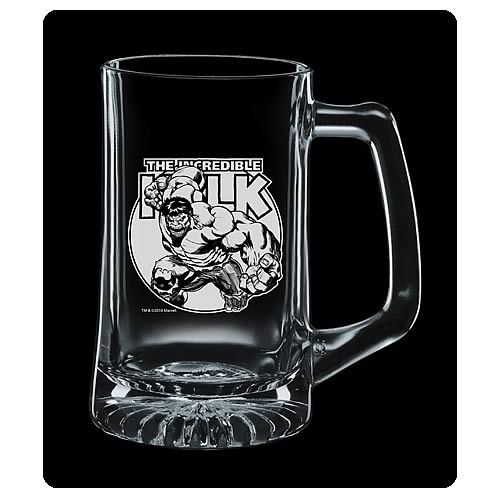 Incredible Hulk Premium Etched Glass Stein