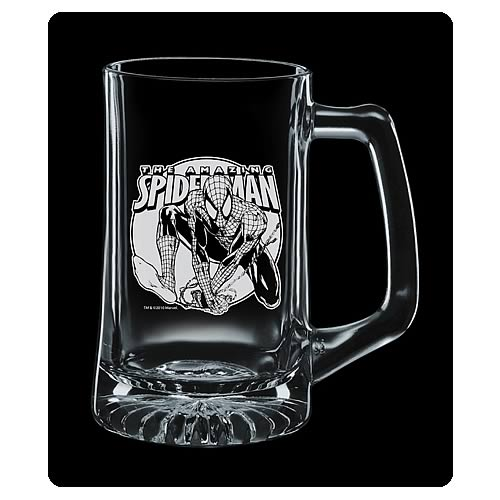 Amazing Spider-Man Premium Etched Glass Stein