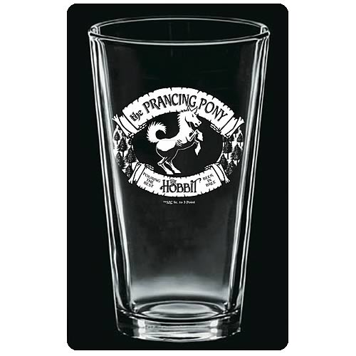 The Hobbit The Prancing Pony Etched Pint Glass 2-Pack