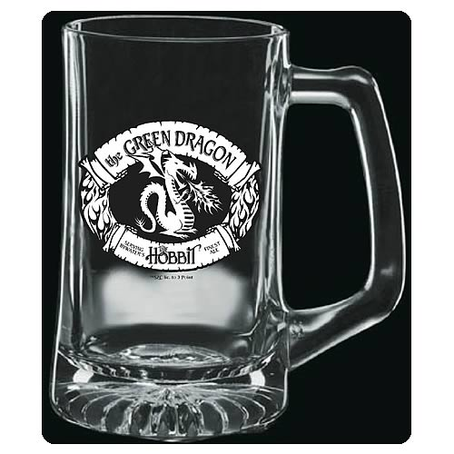 The Hobbit The Green Dragon Premium Etched Glass Stein