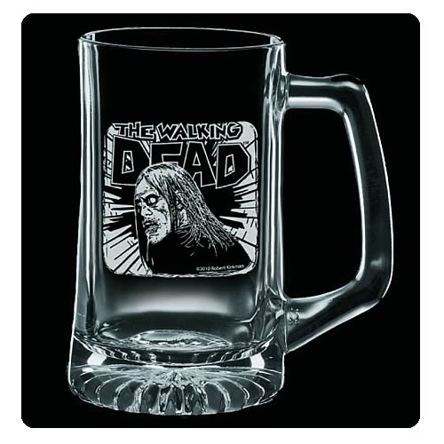 Walking Dead Fresh Meat Premium Etched Glass Stein