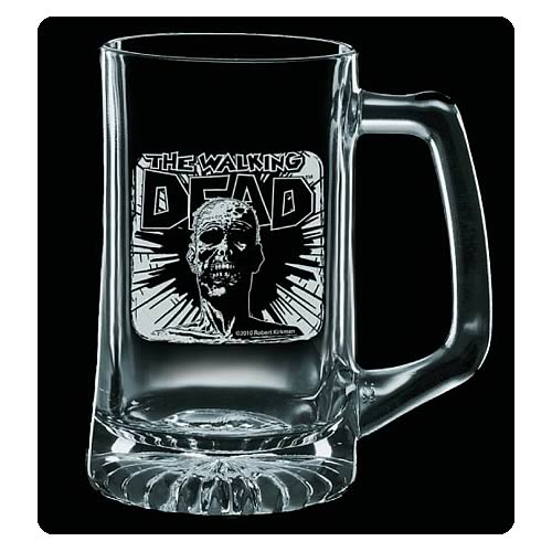 Walking Dead Dead Head Premium Etched Glass Stein