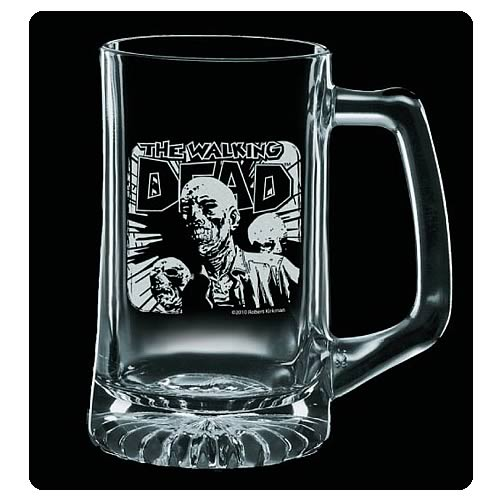 Walking Dead Dead Rules Premium Etched Glass Stein