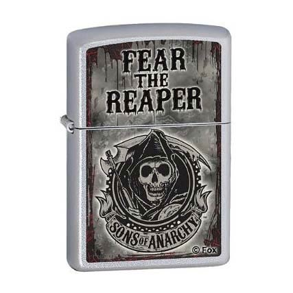 Sons of Anarchy Fear the Reaper Satin Chrome Zippo Lighter