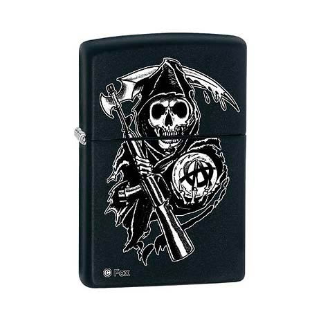 Sons of Anarchy The Reaper Black Matte Zippo Lighter
