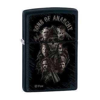 Sons of Anarchy Group Shot Black Matte Zippo Lighter