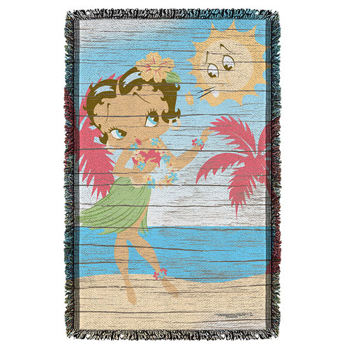 Betty Boop Hula Boop Woven Tapestry Throw Blanket