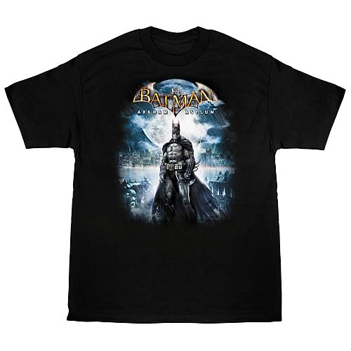 Batman Arkham Asylum Game Cover T-Shirt
