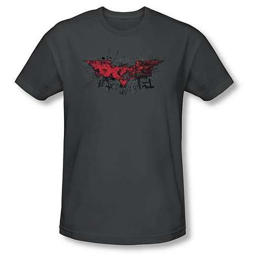 Batman Dark Knight Rises Fear Logo Gray T-Shirt