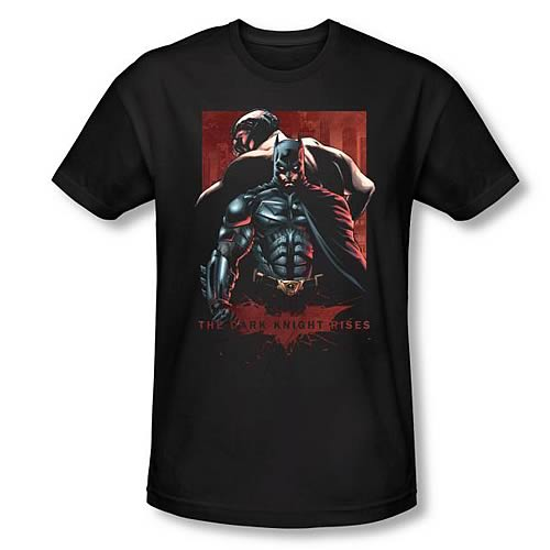 Batman Dark Knight Rises Batman and Bane Black T-Shirt