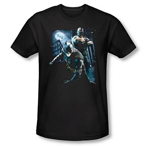 Batman Dark Knight Rises Battlefield Gotham Black T-Shirt