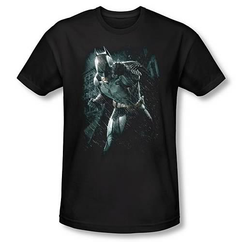 Batman Dark Knight Rises Batman Rain Black T-Shirt