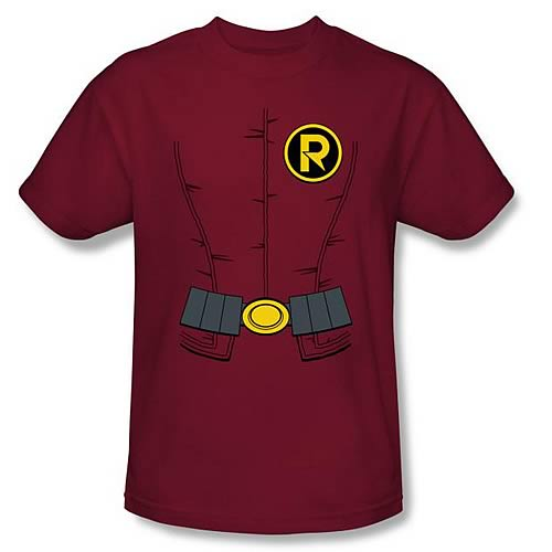Batman New 52 Robin Costume Red T-Shirt