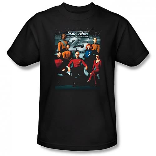 Star Trek TNG 25th Anniversary Crew Black T-Shirt