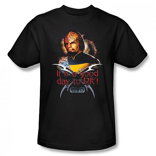 Star Trek TNG Worf Good Day to Die Black T-Shirt