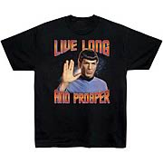 Star Trek T-Shirt: Live Long and Prosper T-Shirt
