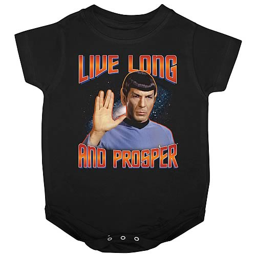 Star Trek Spock Live Long and Prosper Onesie