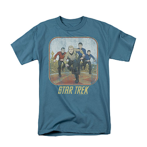 Star Trek Running Classic Crew Cartoon T-Shirt