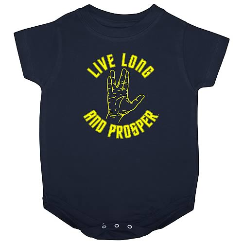 Star Trek Live Long and Prosper Onesie