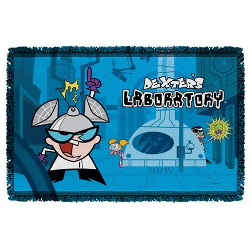Dexters Laboratory Lab Woven Tapestry Throw Blanket