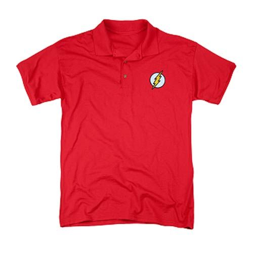 The flash embroidered patch polo t shirt trevco