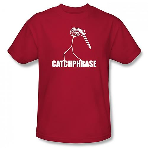 Dick Figures Catch Phrase Red T-Shirt