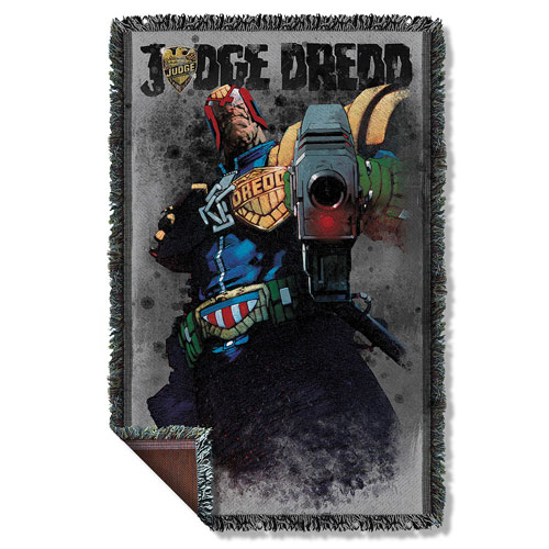 Judge Dredd Last Words Woven Tapestry Throw Blanket